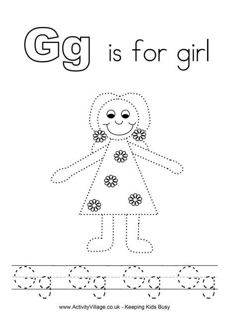 g is for girl coloring page pin by kitcat on melonheadz marker drawing coloring is for page girl g coloring