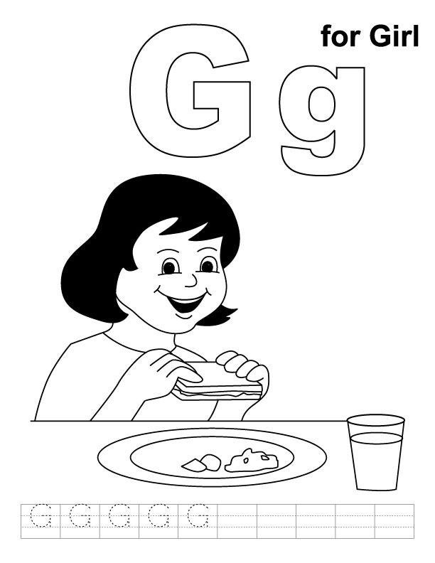 g is for girl coloring page sweet silly sara g is for girl coloring page page g is for girl coloring