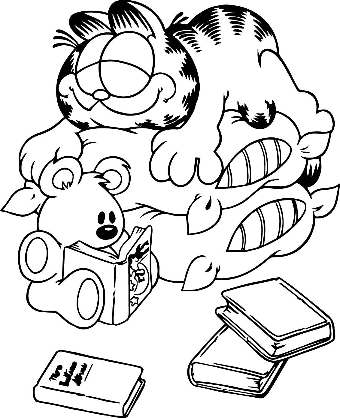 garfield coloring pictures free garfield the cat coloring pages for kids garfield pictures coloring