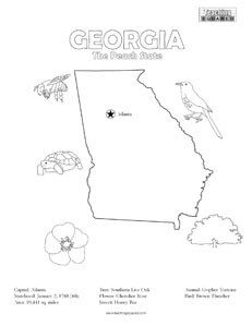 georgia map coloring page georgia map outline printable state shape stencil georgia map page coloring