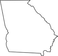 georgia map coloring page georgia map outline printable state shape stencil map coloring page georgia
