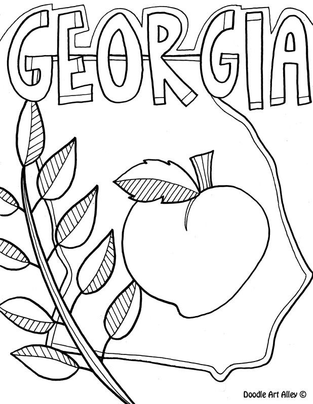 georgia map coloring page printable state map of georgia coloring page map georgia