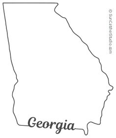 georgia map coloring page royalty free rf georgia map clipart illustrations coloring georgia map page
