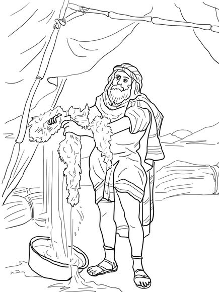 gideon coloring pages gideon and the fleece coloring page sunday school coloring pages gideon