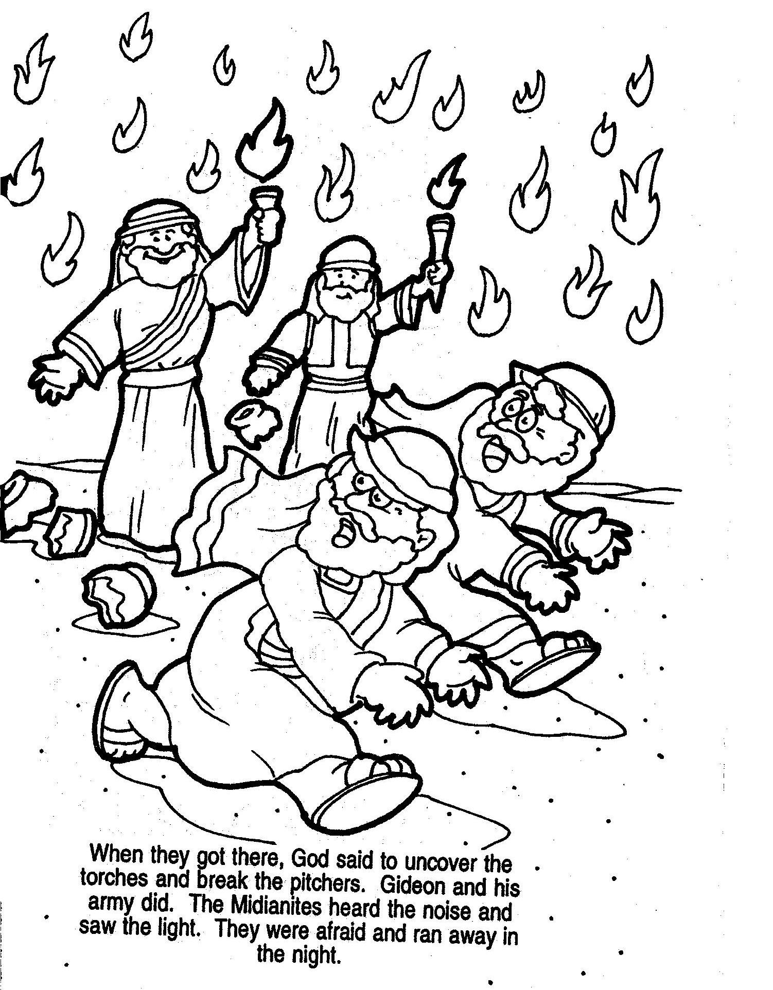 gideon coloring pages gideon coloring page free coloring home gideon coloring pages