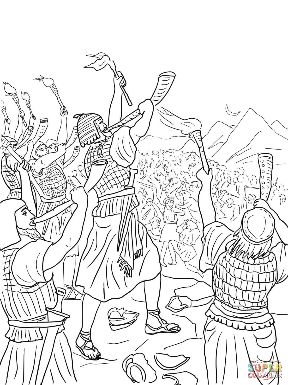 gideon coloring pages gideon coloring page free coloring home pages gideon coloring 1 1