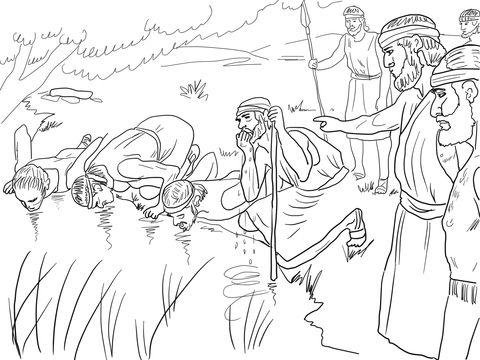 gideon coloring pages gideon selects his army of 300 men coloring page with pages coloring gideon