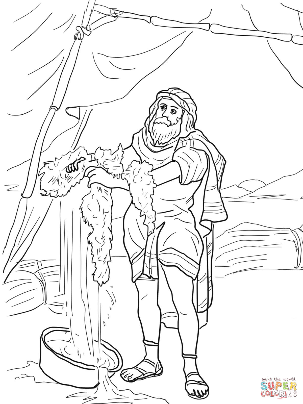 gideon coloring pages gideon soldiers with trumpets and torches super coloring pages gideon coloring