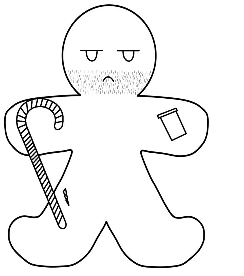 gingerbread boy outline blank gingerbread man coloring page print color fun outline gingerbread boy