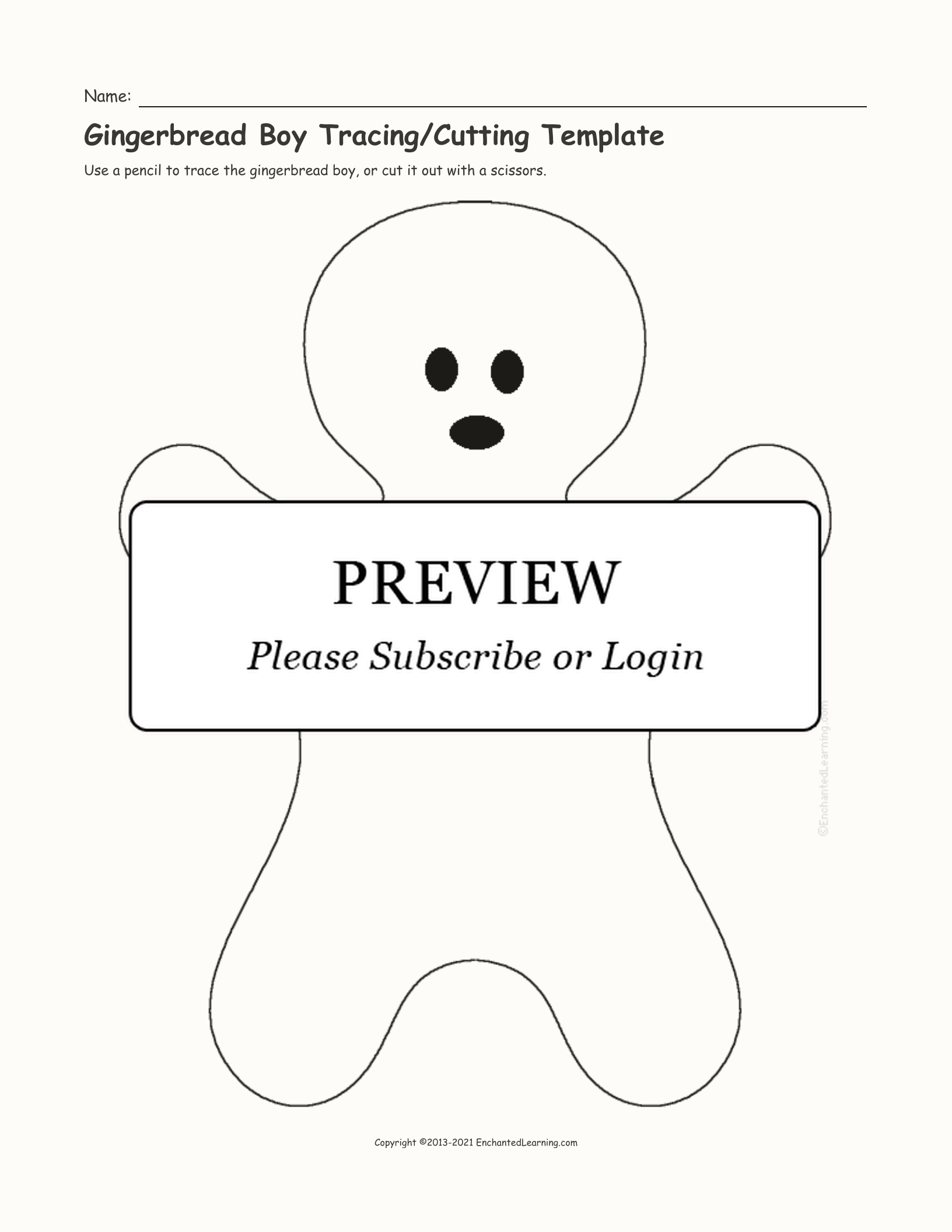 gingerbread boy outline free printable small snowflake templates simple mom outline gingerbread boy