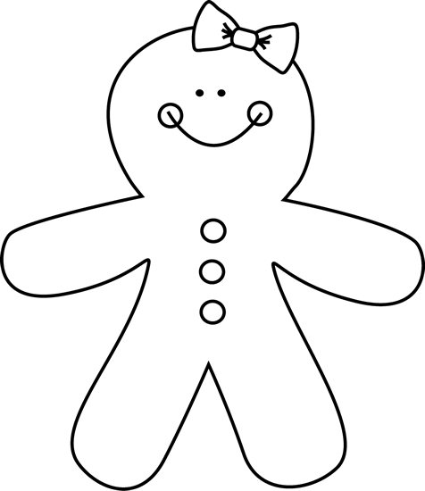 gingerbread girl template printable black and white gingerbread girl with images printable gingerbread template girl