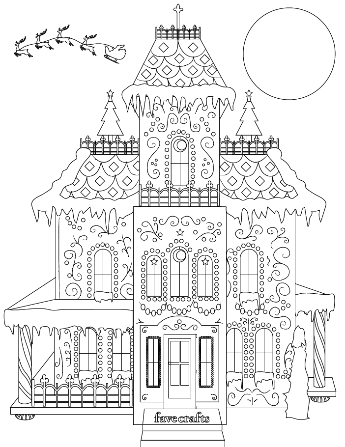 gingerbread house color page 1000 images about icolor quotgingerbread housesquot on gingerbread house color page