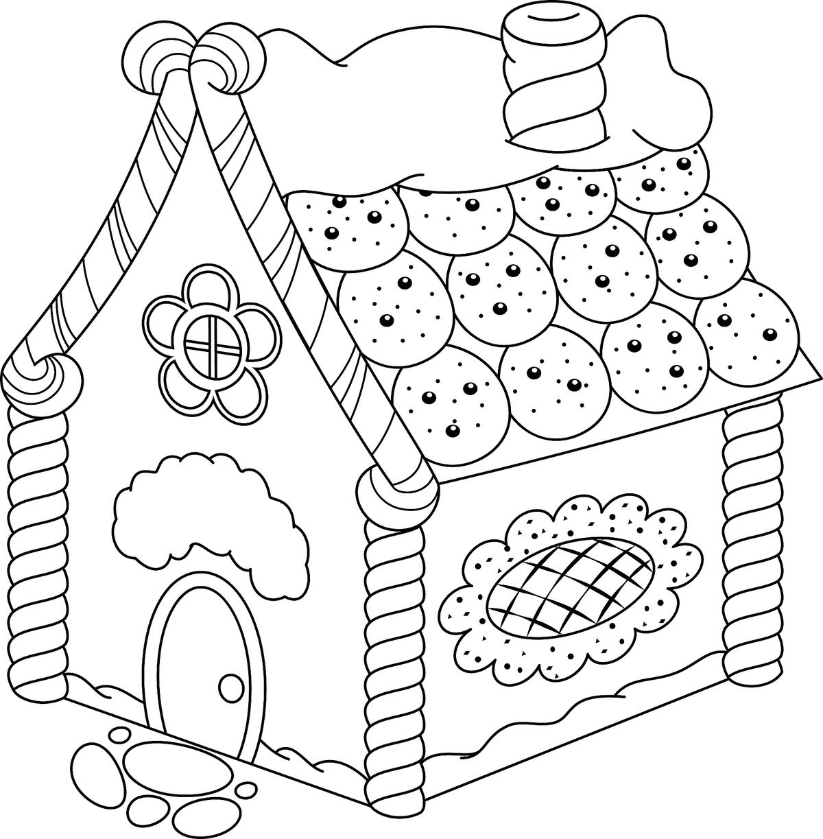 gingerbread house color page 30 free gingerbread house coloring pages printable gingerbread house color page