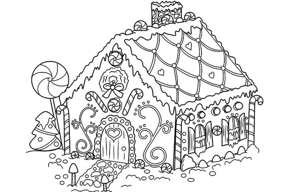 gingerbread house color page 30 free gingerbread house coloring pages printable gingerbread page house color