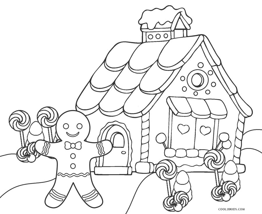 gingerbread house color page free printable gingerbread house coloring pages for kids house color gingerbread page