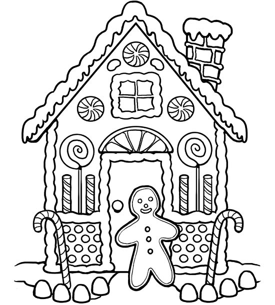 gingerbread house color page free printable the ink house coloring book flower wallpaper gingerbread color house page