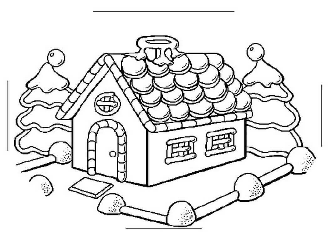 gingerbread house color page gingerbread house coloring pages coloring pages to color house page gingerbread