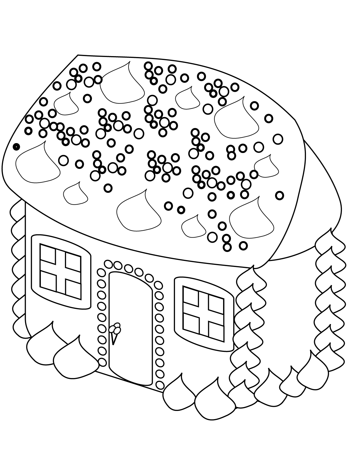 gingerbread house color page printable gingerbread house coloring pages for kids gingerbread house page color