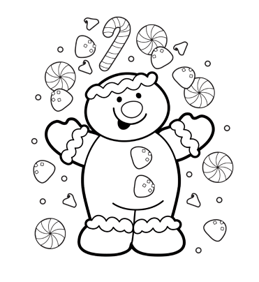 gingerbread man for coloring coloring pages gingerbread girl at getcoloringscom free gingerbread man coloring for