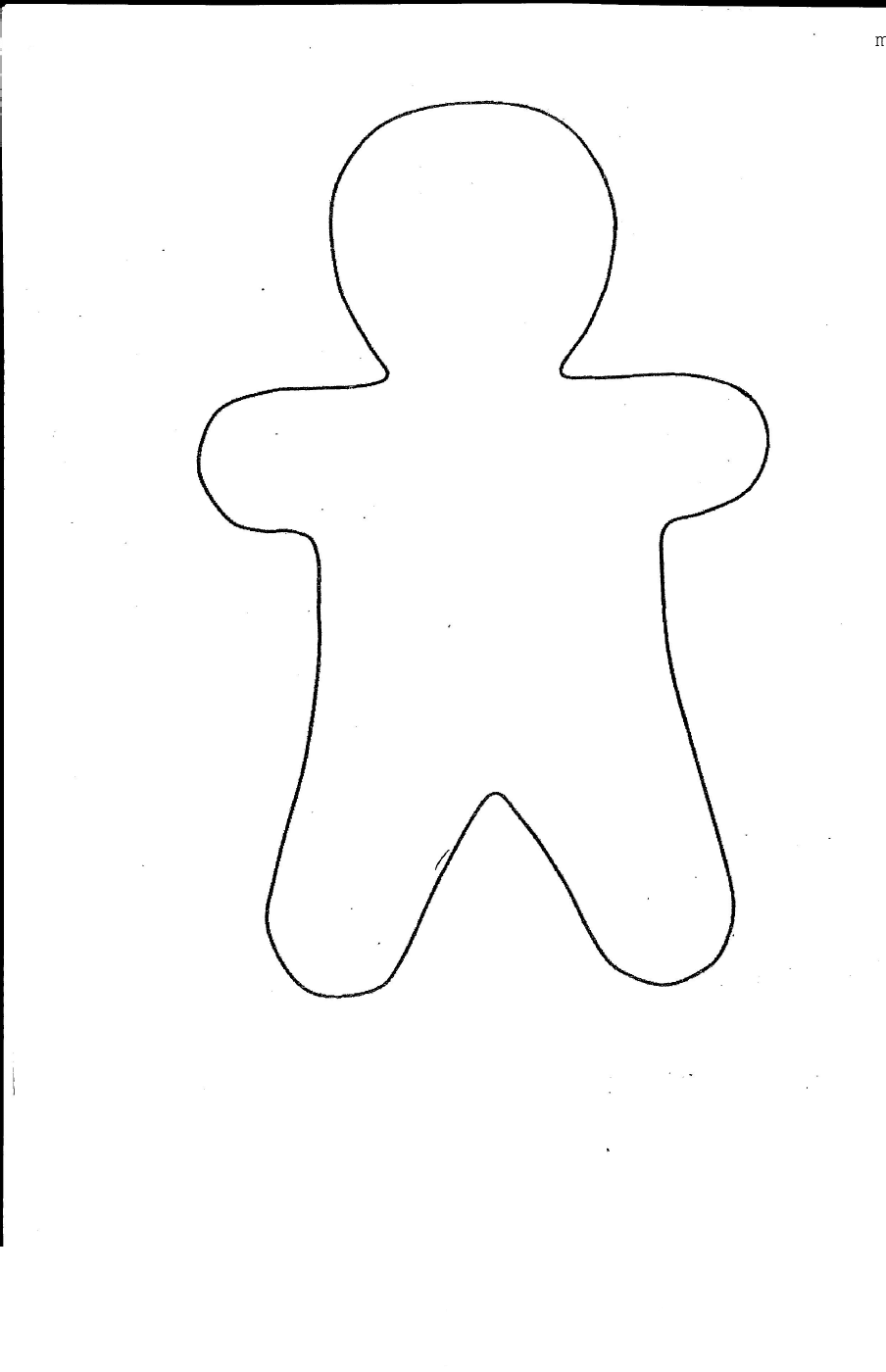 gingerbread man for coloring gingerbread man template clipart coloring page for kids man gingerbread for coloring