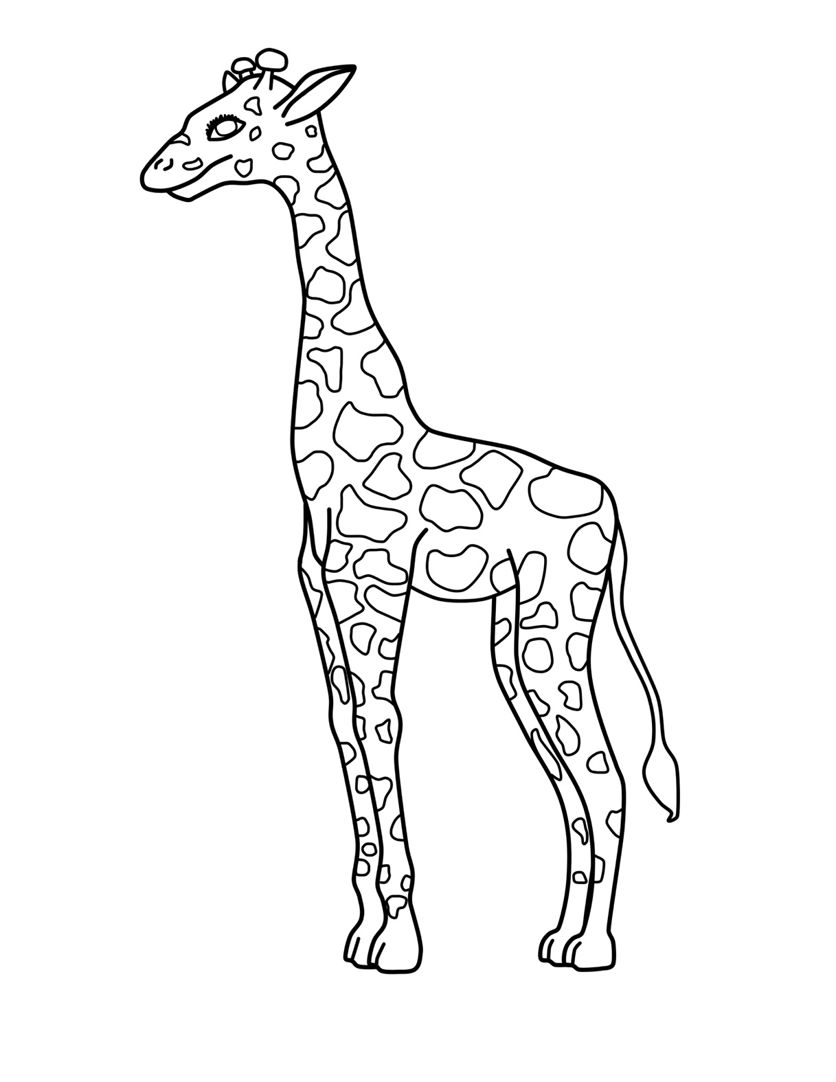 giraffe coloring image coloring pages for kids giraffe coloring pages for kids image giraffe coloring