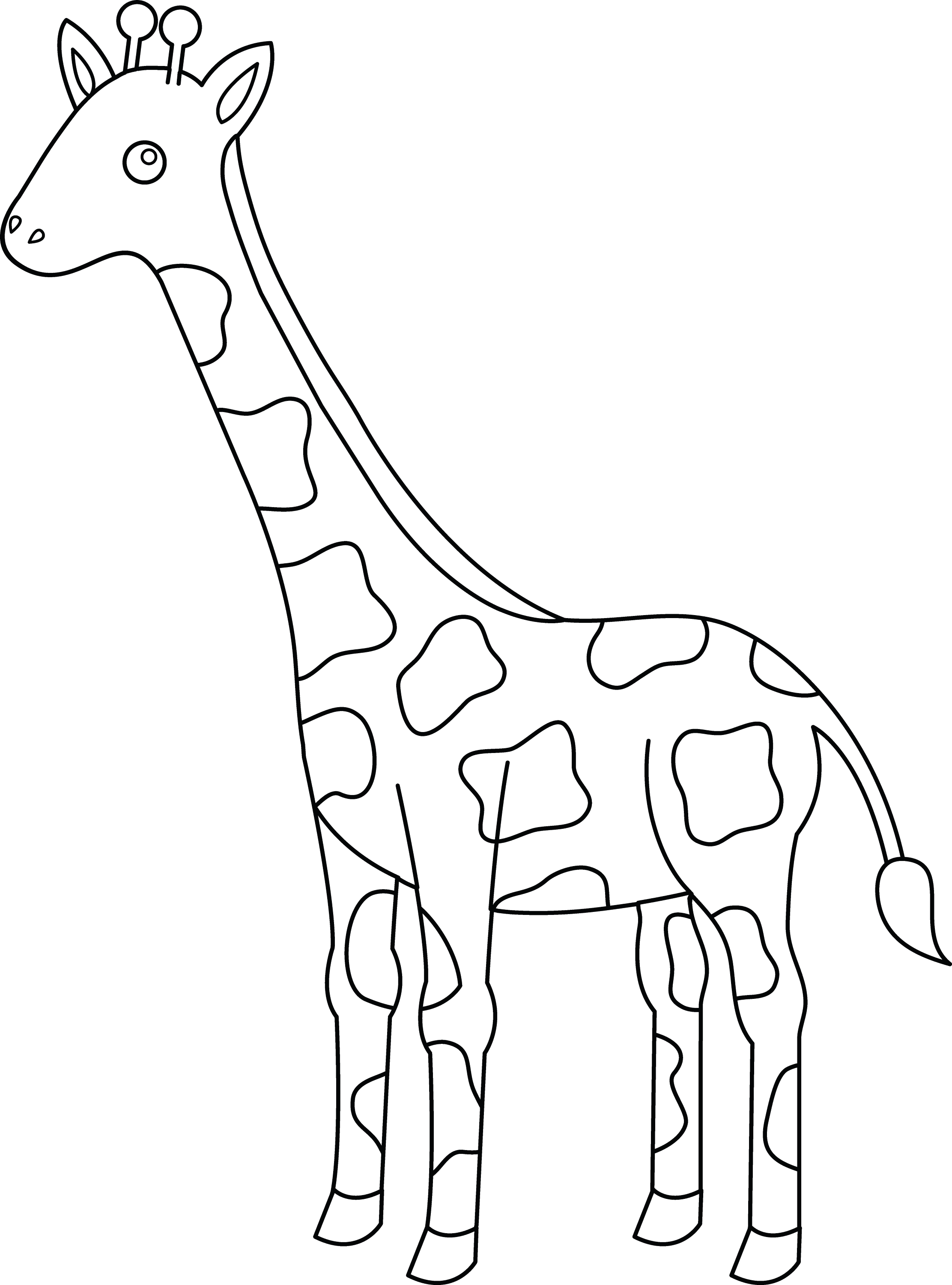 giraffe coloring image cute coloring pages of giraffes coloring home giraffe coloring image