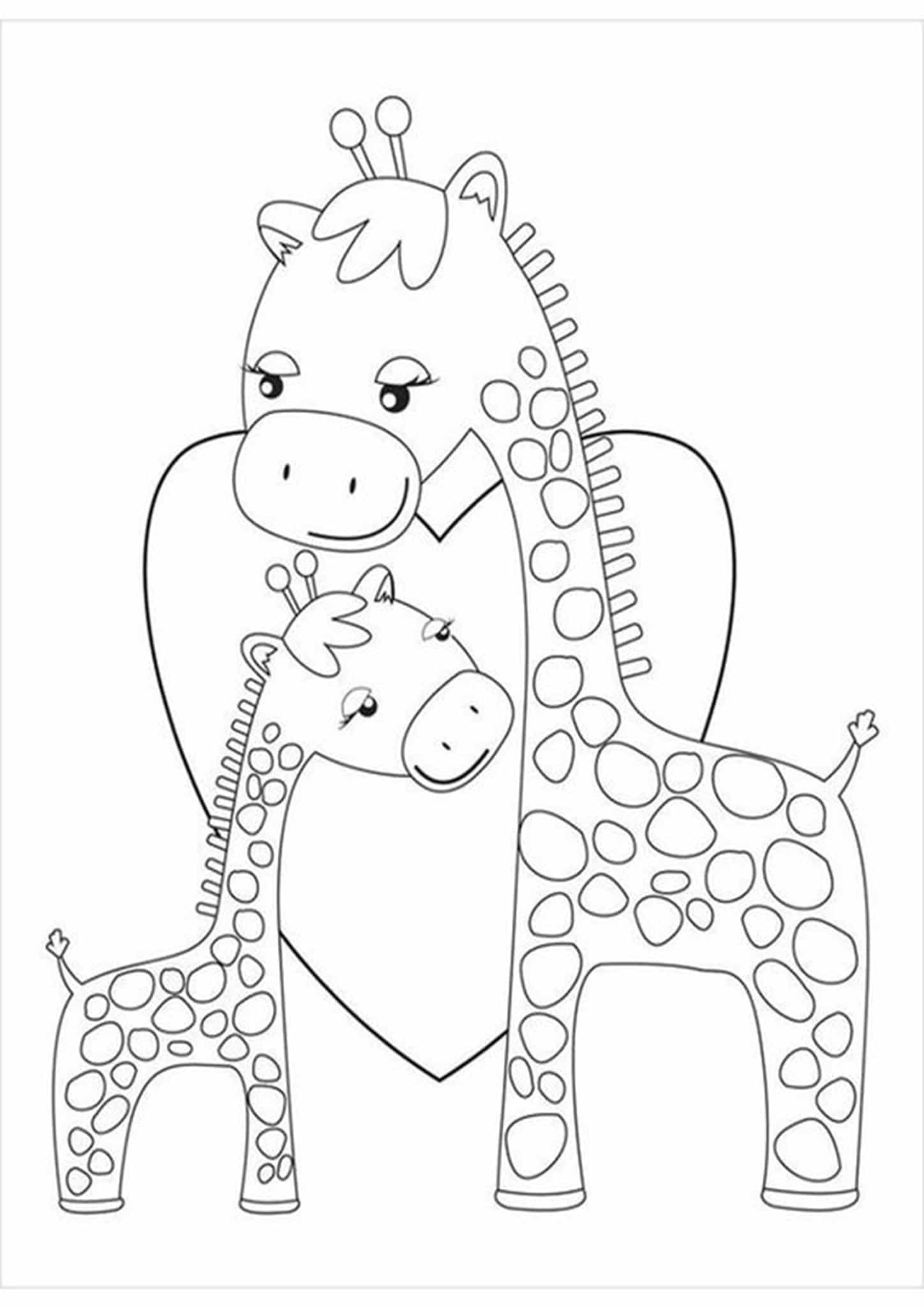 giraffe coloring image free easy to print giraffe coloring pages tulamama coloring image giraffe