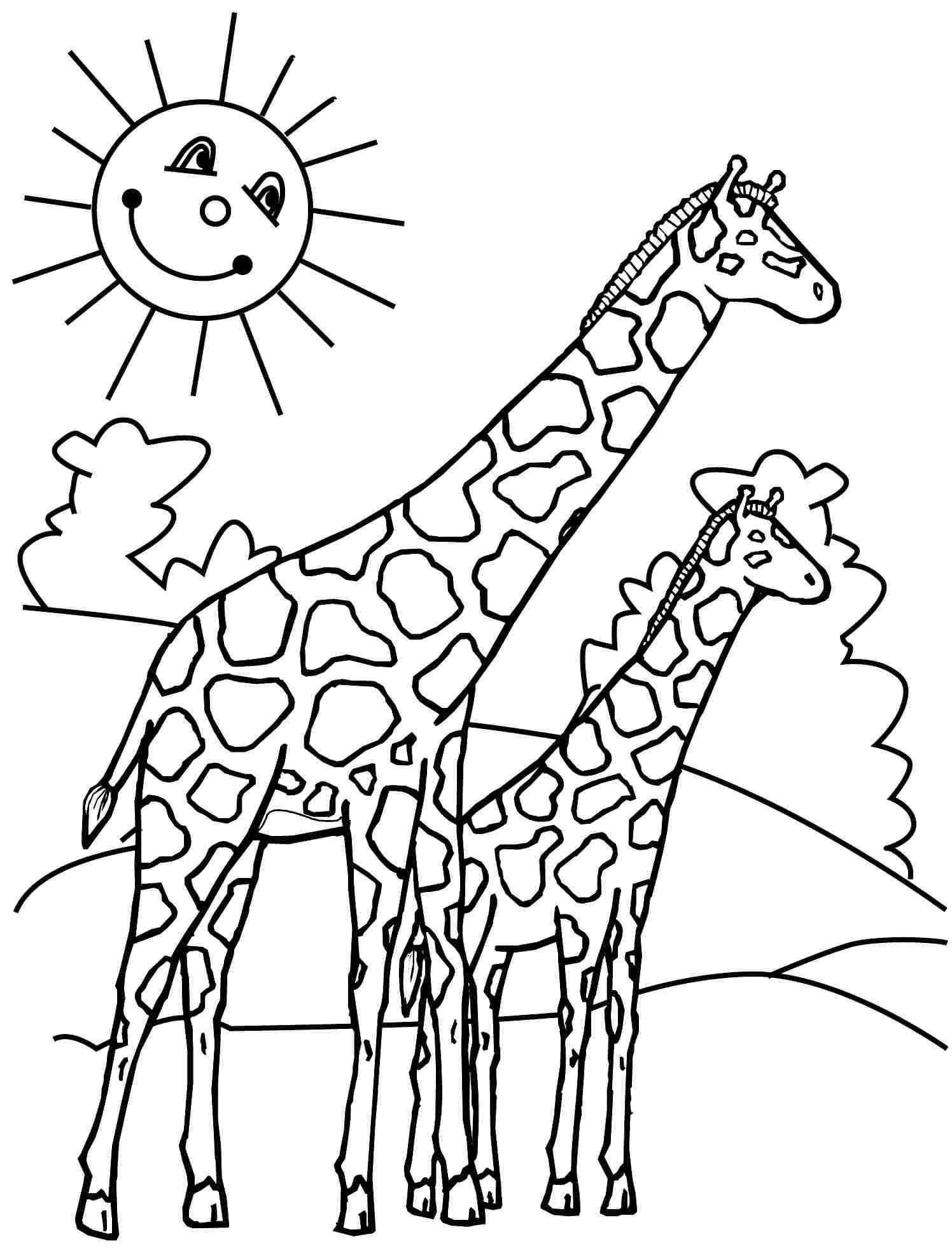 giraffe printable giraffe coloring pages the sun flower pages printable giraffe