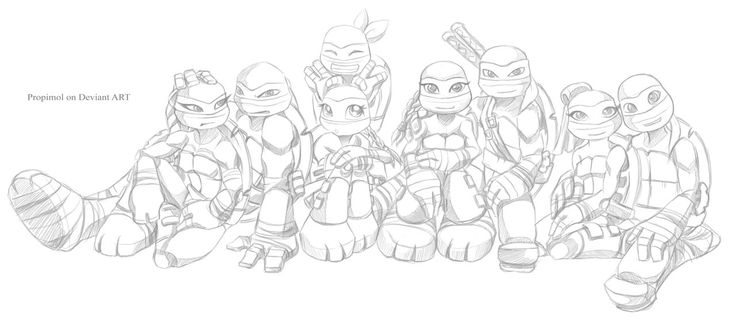 girl ninja turtle coloring page quarrel by propimol on deviantart ninja turtle coloring girl page coloring ninja turtle