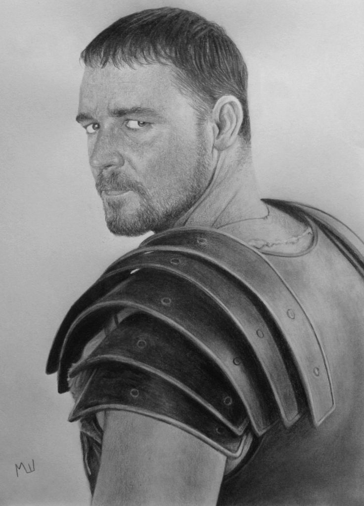 gladiator drawing pencil drawing of russel crowe as maximus pencil drawing drawing gladiator