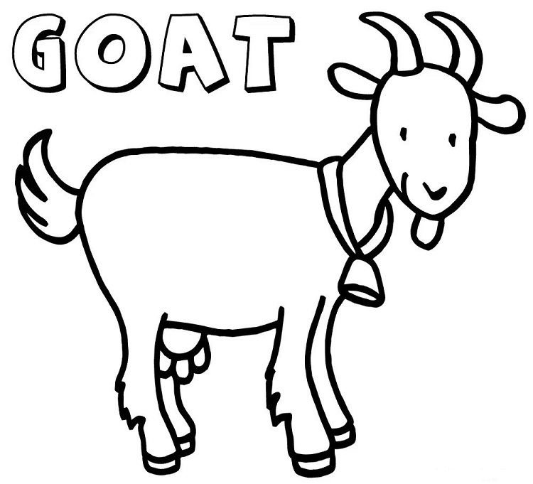 goat coloring coloring pages goat coloring home coloring goat