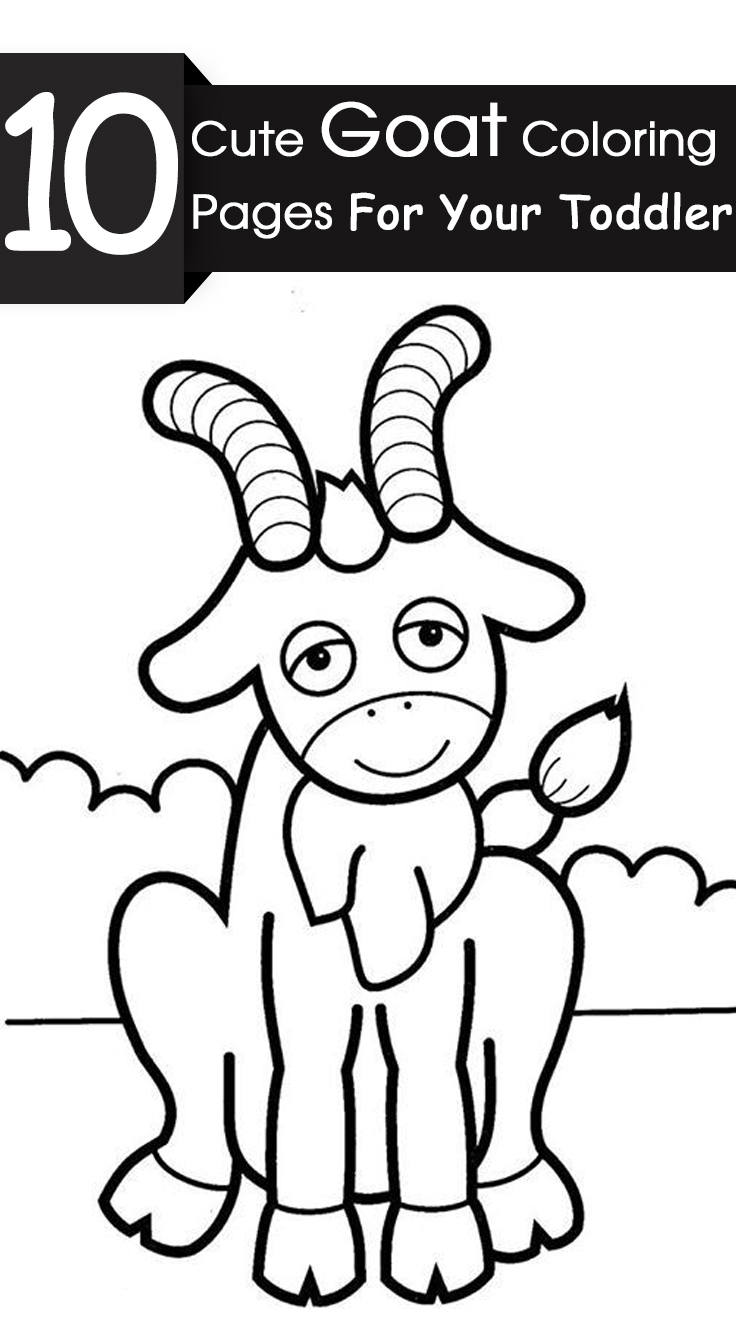 goat pictures to color goat coloring page color pictures to goat