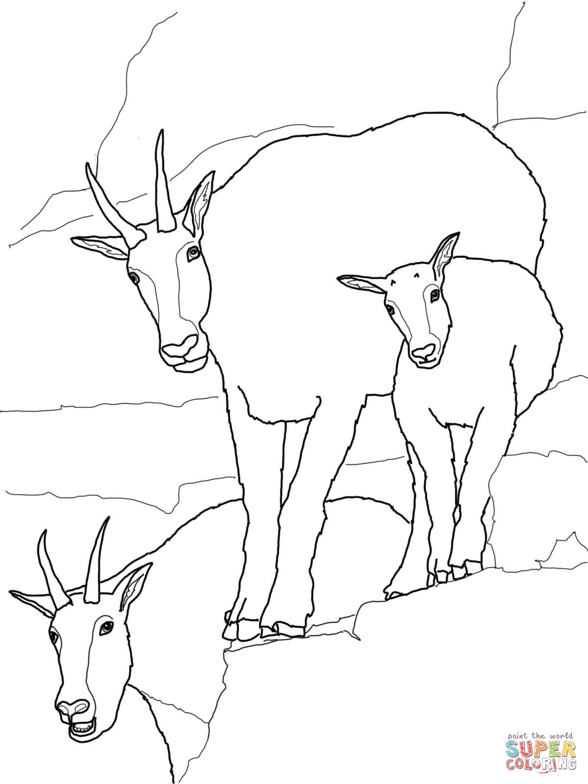 goat pictures to color goat coloring page free printable coloring pages goat pictures to color