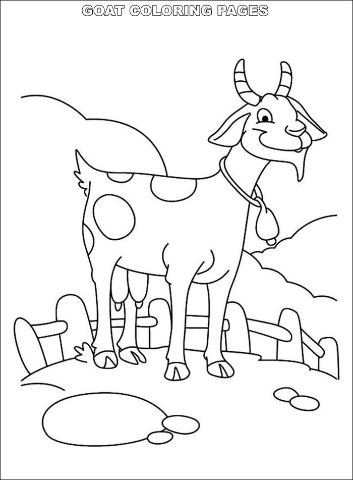 goat pictures to color goat stepping on grass coloring pages color luna goat color to pictures