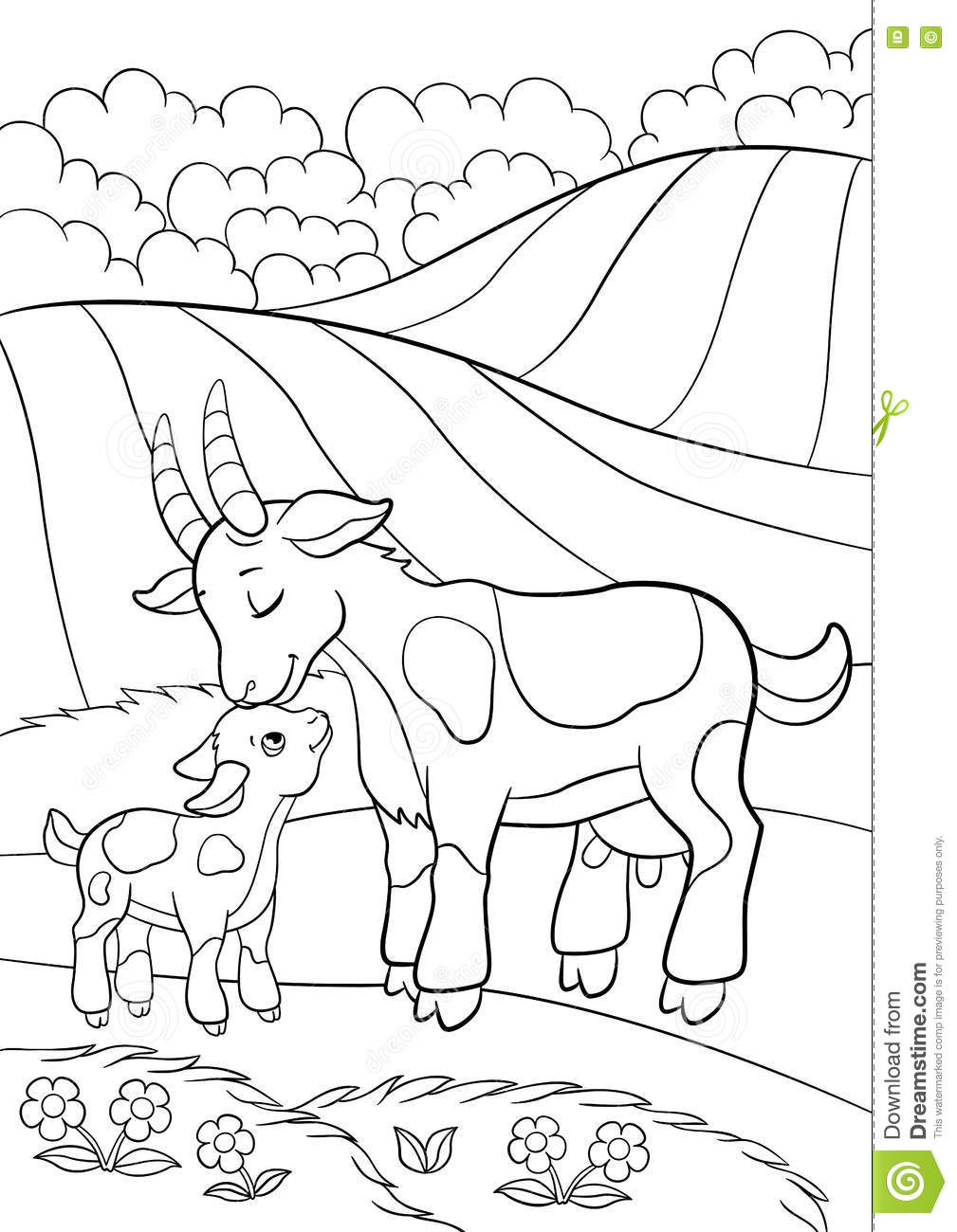 goat pictures to color two goat playing ouside coloring pages color luna with goat to pictures color