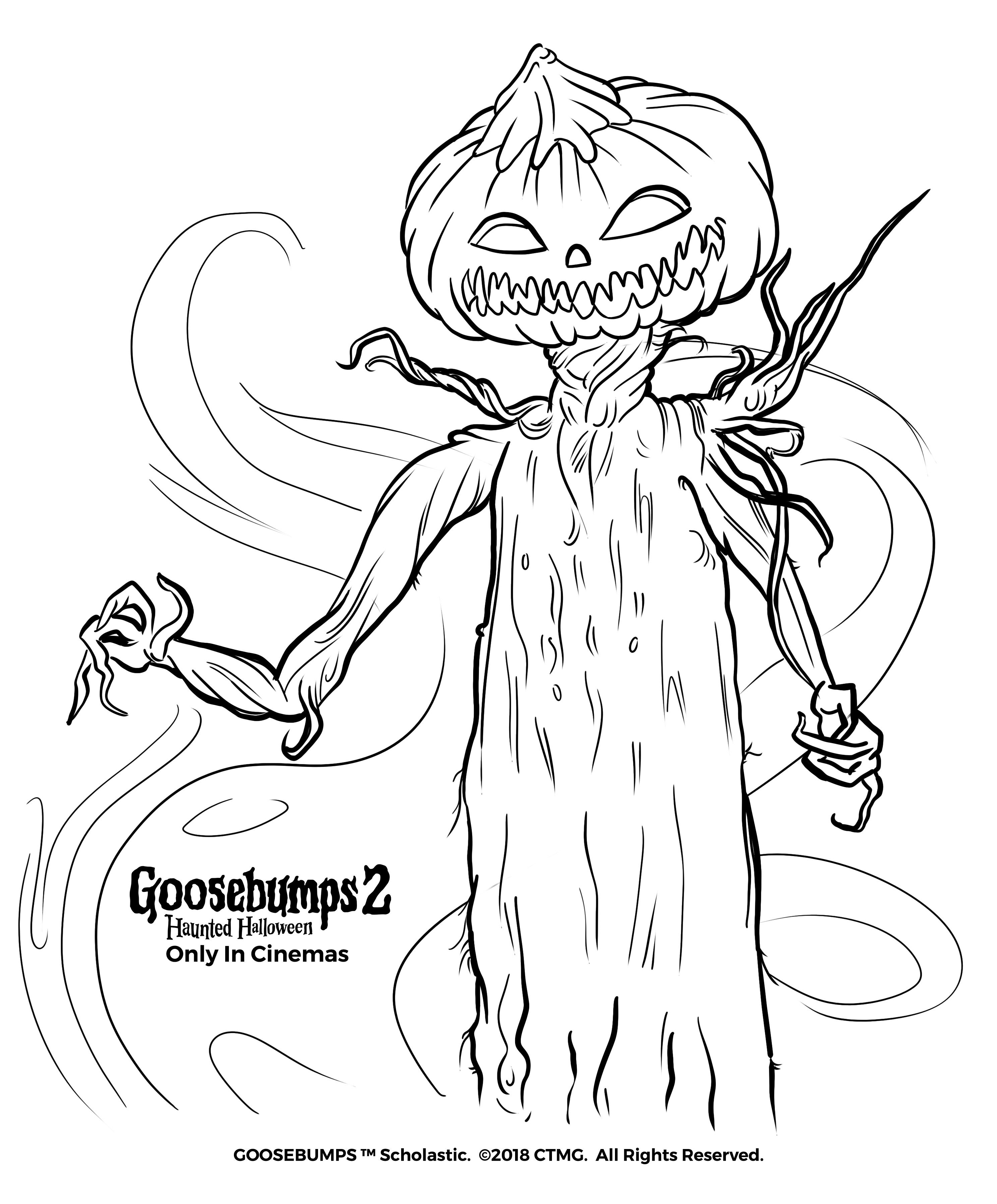 goosebumps coloring sheets be careful with what you create goosebumps2movie sheets coloring goosebumps