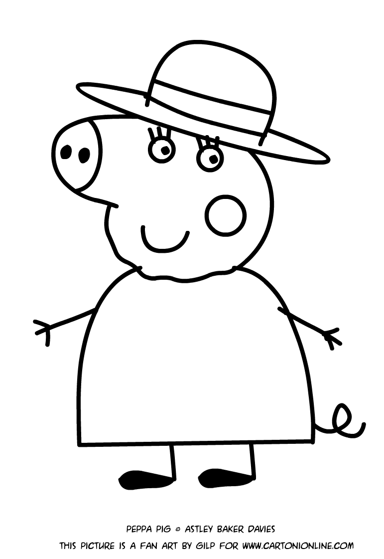 grandma pig coloring pages learn how to draw granny pig from peppa pig peppa pig pages pig coloring grandma