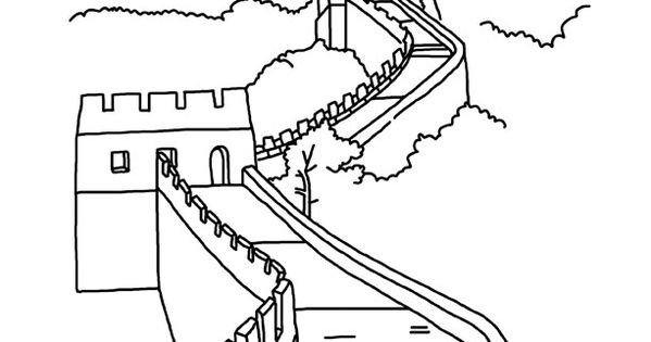 great wall of china coloring sheet great wall of china i want to use this one as my company wall sheet coloring great of china