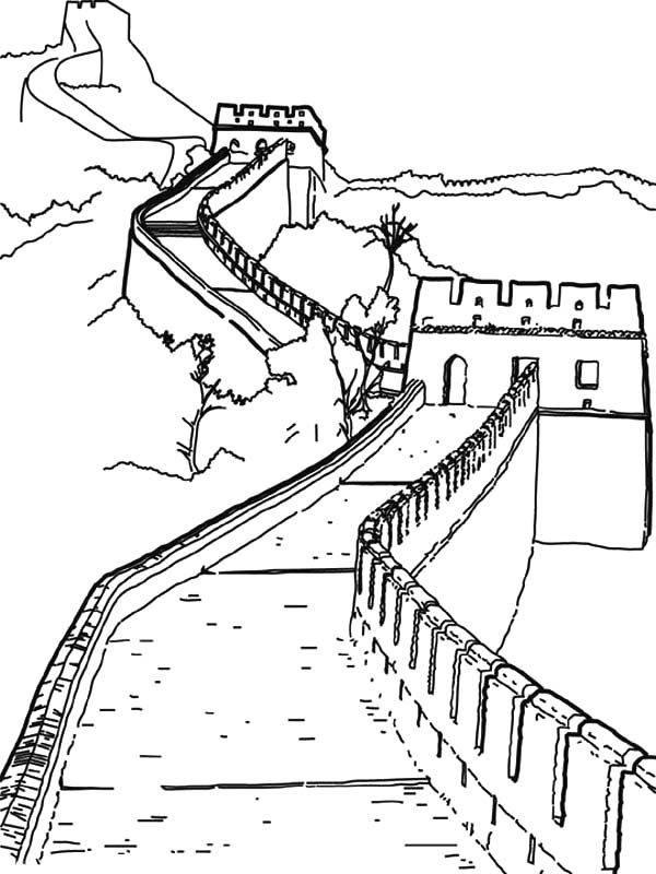 great wall of china coloring sheet the famous great wall from ancient china coloring page sheet coloring china great of wall