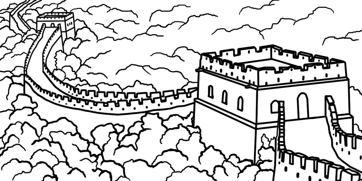great wall of china coloring sheet the great wall of china coloring page for kids sheet of china wall great coloring