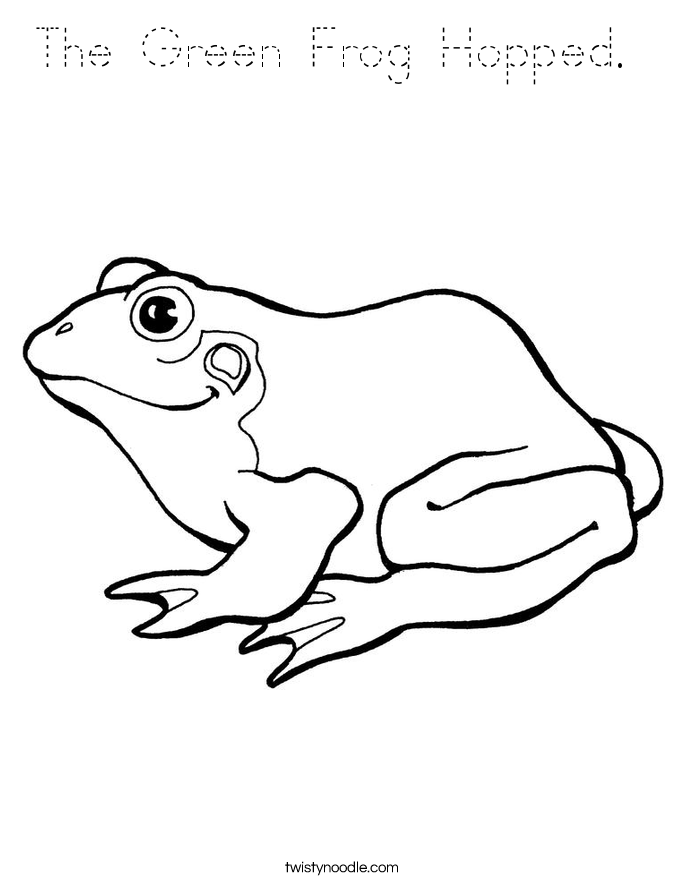 green tree frog coloring page i am a green frog coloring page twisty noodle tree coloring frog green page