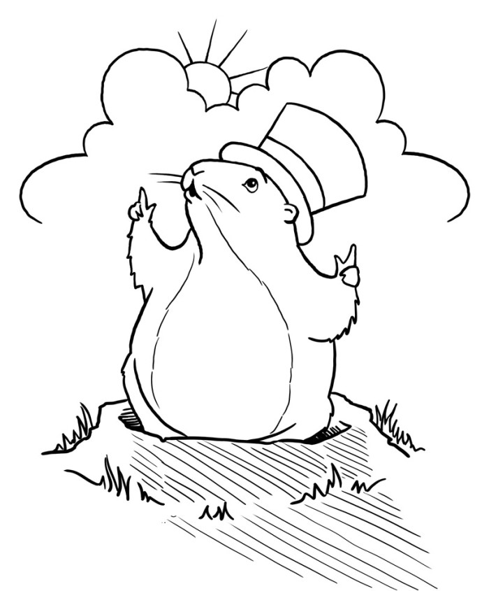 groundhog pictures to color groundhog coloring page twisty noodle pictures to color groundhog
