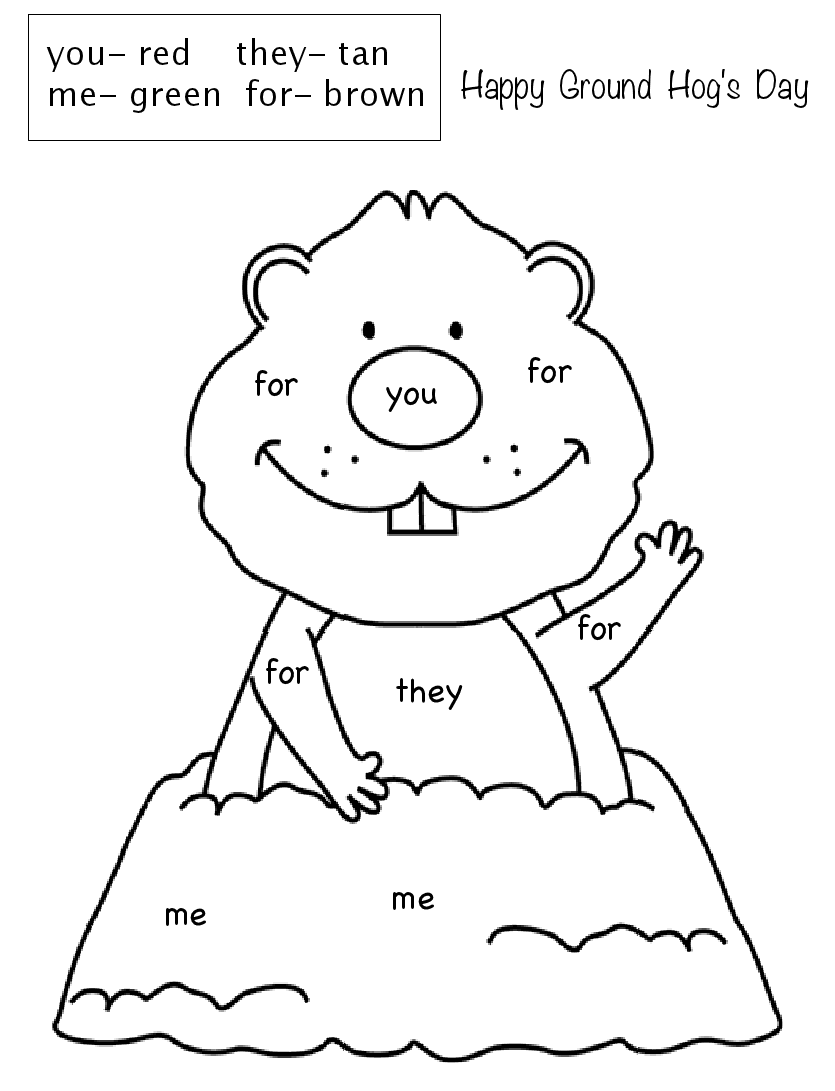 groundhog pictures to color groundhog coloring pages woo jr kids activities groundhog color pictures to