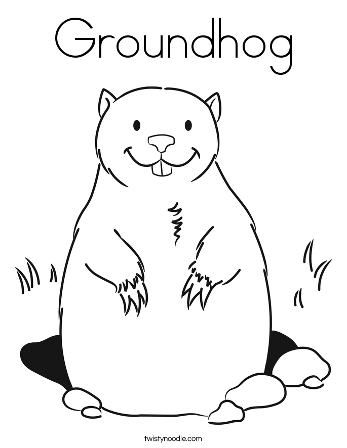 groundhog pictures to color groundhog day coloring pages at getcoloringscom free pictures groundhog color to