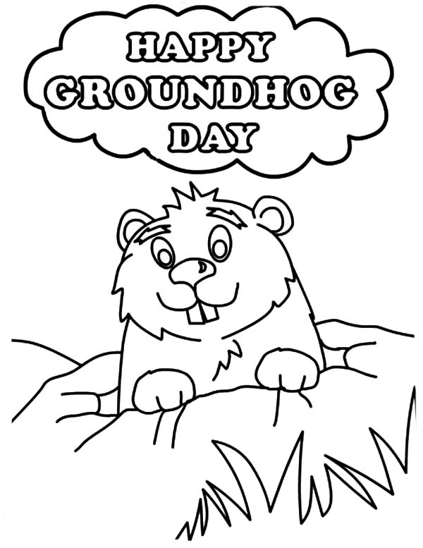 groundhog pictures to color groundhog39s day coloring pages gtgt disney coloring pages groundhog to color pictures
