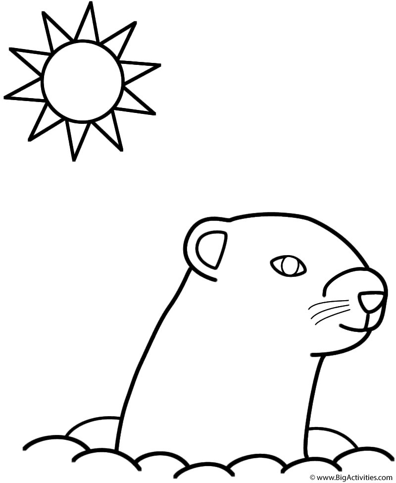 groundhog pictures to color happy groundhog day coloring pages for kids groundhog to color pictures groundhog