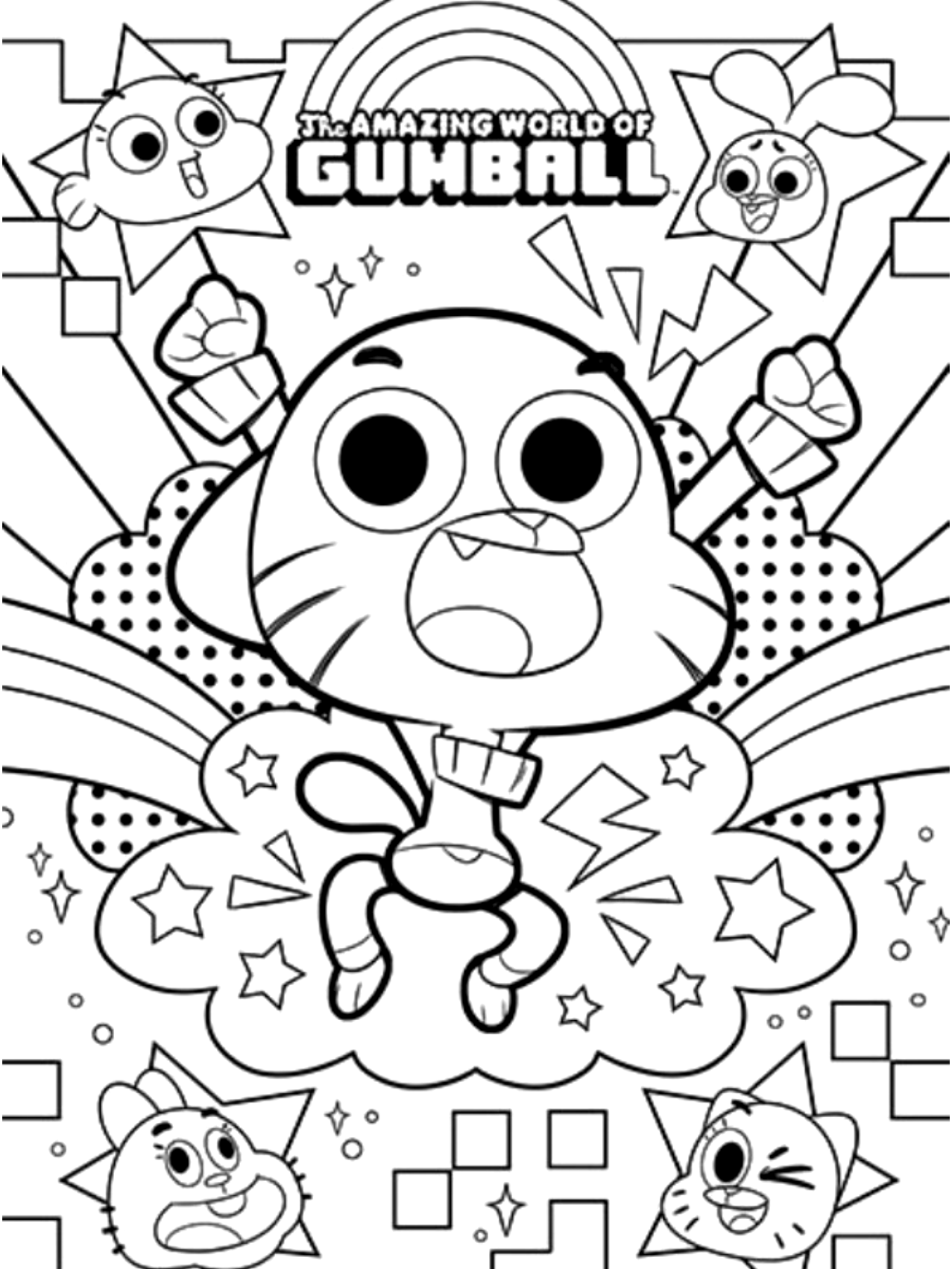 gumball cartoon coloring pages awesome picture of gumball coloring pages coloring pages gumball pages coloring cartoon