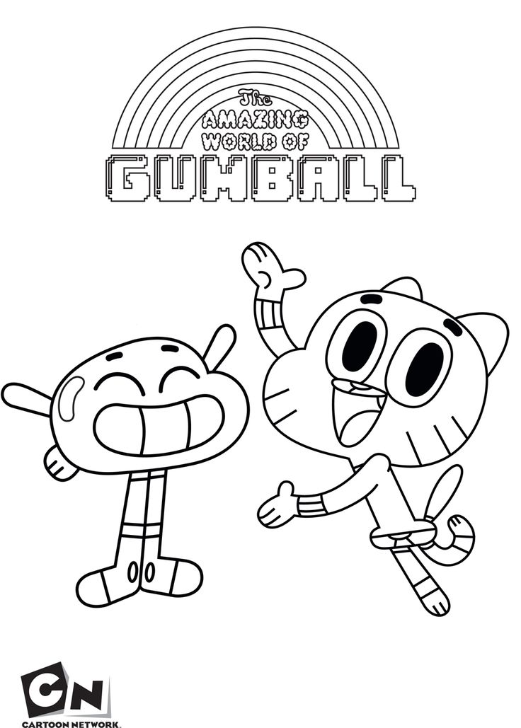 gumball cartoon coloring pages gumball and anais the amazing world of gumball coloring pages cartoon gumball coloring