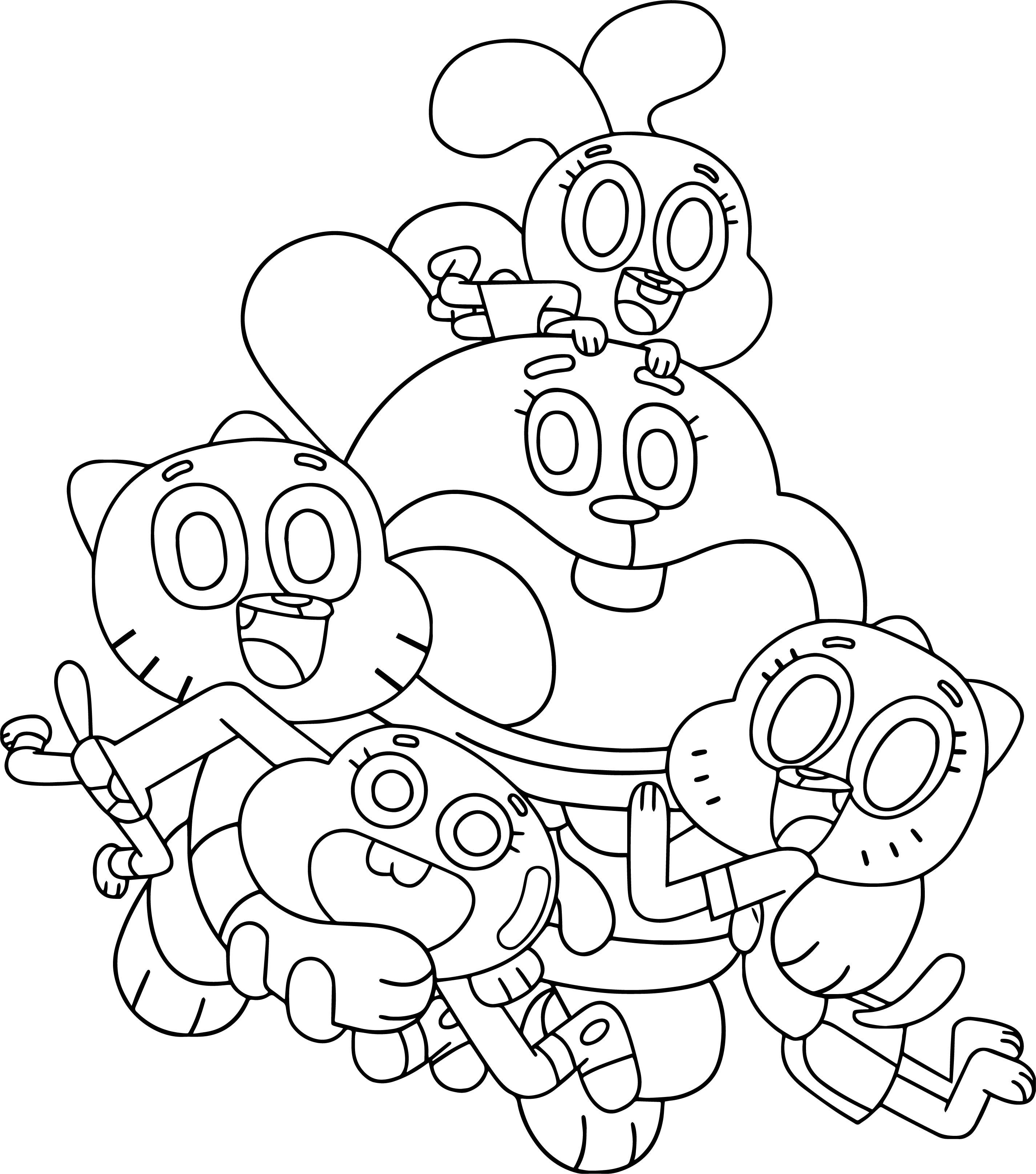 gumball cartoon coloring pages gumball the cat coloring pages the cartoon tripafethna coloring cartoon pages gumball