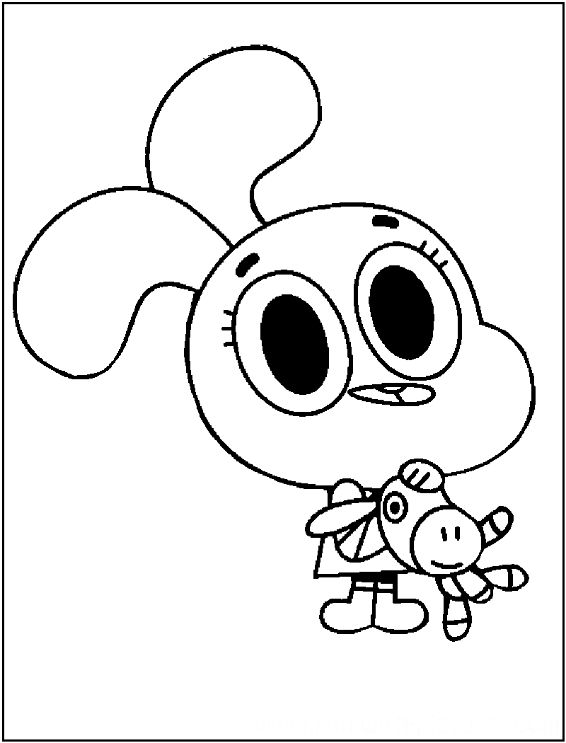 gumball cartoon coloring pages printable coloring pages of swd anime people coloring home pages cartoon gumball coloring